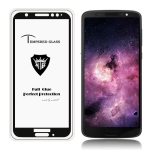 MIETUBL Full Screen Full Glue Anti-fingerprint Tempered Glass Film for Motorola Moto G6 (Black)