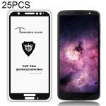 25 PCS MIETUBL Full Screen Full Glue Anti-fingerprint Tempered Glass Film for Motorola Moto G6 (Black)