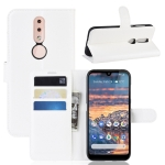 Litchi Texture Horizontal Flip Leather Case for Nokia 4.2, with Wallet & Holder & Card Slots (White)