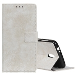 Retro Crazy Horse Texture Horizontal Flip Leather Case for Nokia 1 Plus, with Holder & Card Slots & Photo Frame (White)