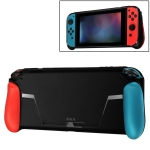 TPU Shell Handle Grip with Game Card Slot Anti-Shock Cover Silicone Case for Nintendo Switch, with Logo