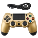 Snowflake Button Wired Gamepad Game Handle Controller for PS4 (Gold)