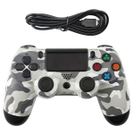 Grey Camouflage Snowflake Button Wired Gamepad Game Handle Controller for PS4