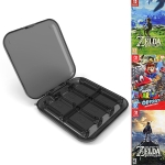 12 in 1 Box Memory Card Holder Box for Nintendo Switch (Black)