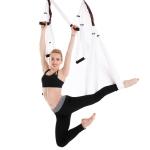 6 Handles Bodybuilding Handstand Inelasticity Aerial Yoga Hammock (White)