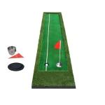 PGM Golf Double Colors Putting Mat Push Rod Trainer, Size: 50x300cm(Green)