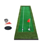 PGM Golf Double Colors Putting Mat Push Rod Trainer, Size: 75x300cm (Green)