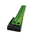 PGM Golf Mini Putting Mat Push Rod Trainer 2.5m, without Auto Ball Return Fairway (Green)