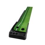 PGM Golf Mini Putting Mat Push Rod Trainer 2.5m, with Auto Ball Return Fairway (Green)