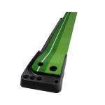 PGM Golf Mini Putting Mat Push Rod Trainer 3m, with Auto Ball Return Fairway (Green)