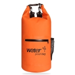 Outdoor Waterproof Dry Dual Shoulder Strap Bag Dry Sack PVC Barrel Bag, Capacity: 10L (Orange)