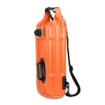 Outdoor Portable Waterproof Shoulder Bag Dry and Wet Separation Swimming Bag PVC Inflatable Bag, Capacity: 18L (Orange)