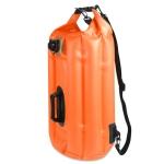 Outdoor Portable Waterproof Shoulder Bag Dry and Wet Separation Swimming Bag PVC Inflatable Bag, Capacity: 28L (Orange)