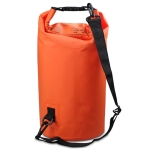 Outdoor Waterproof Single Shoulder Bag Dry Sack PVC Barrel Bag, Capacity: 10L (Orange)