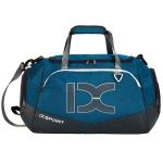 IX LK8035 Scratchproof Waterproof Dry Wet Separation Crossbody One-shoulder Yoga Fitness Travel Bag, Capacity: 40L (White Blue)