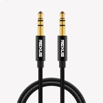 REXLIS 3629 3.5mm Male to Male Car Stereo Gold-plated Jack AUX Audio Cable for 3.5mm AUX Standard Digital Devices, Length: 10m