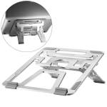 COOLCOLD U2S Portable Foldable Hollow Double Triangle Height Adjustable Aluminum Alloy Bracket for Laptop