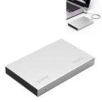 ORICO 2518C3-G2 4TB HDD SSHD SSD 2.5 inch USB3.1 Gen2 USB-C / Type-C Interface Aluminum Alloy Hard Drive Enclosure(Silver)