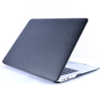 Laptop PU Leather Paste Case for MacBook Air 13.3 inch A1932 (2018) (Black)