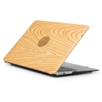 Wood Texture 01 Pattern Laptop PU Leather Paste Case for MacBook Air 13.3 inch A1932 (2018)