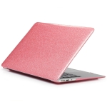 Glittery Powder Laptop PU Leather Paste Case for MacBook Pro 15.4 inch A1990 (2018) / A1707 (2016 – 2017) (Pink)