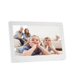 New 11.6-inch IPS Digital Photo Frame Full View 1920*1080 Electronic Photo Album Advertising Machine (White)