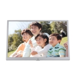 New 15-inch Digital Photo Frame Electronic Photo Frame Ultra-narrow Side Support 1080P Wall-mounted Advertising Machine (Pink)