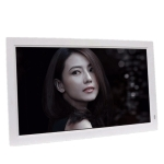 21.5 IPS Digital Photo Frame Electronic Photo Frame Advertising Machine Support 1080P HDMI(White)