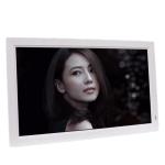 21.5 IPS Digital Photo Frame Electronic Photo Frame Advertising Machine Support 1080P HDMI(White)
