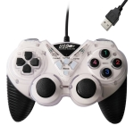 Wired Vibration Gamepad PC USB Controller Joystick Game Handle(White)