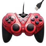 Wired Vibration Gamepad PC USB Controller Joystick Game Handle(Red)