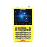 iBRAVEBOX V8 Finder Digital Satellite Signal Finder Meter, 3.5 Inch LCD Colour Screen, Support DVB Compliant & Live FTA (Yellow)