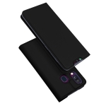 DUX DUCIS Skin Pro Series Horizontal Flip PU + TPU Leather Case for Galaxy A40, with Holder & Card Slots (Black)