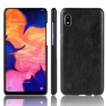 Shockproof Litchi Texture PC + PU Protective Case for Galaxy A10 (Black)