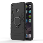 Shockproof PC + TPU Case with Magnetic Ring Holder for Galaxy M30 (Black)