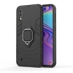 Shockproof PC + TPU Case with Magnetic Ring Holder for Galaxy M10(Black)