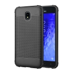 Cube Texture Shockproof TPU Case for Galaxy J7 (2018) (Black)