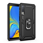 Sergeant Armor Shockproof TPU + PC Protective Case for Galaxy A7 2018, with 360 Degree Rotation Holder (Black)