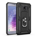 Sergeant Armor Shockproof TPU + PC Protective Case for Galaxy J4 2018, with 360 Degree Rotation Holder (Black)
