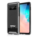 TPU + PC Granule Texture Protective Back Cover Case for Galaxy S10 (Grey)