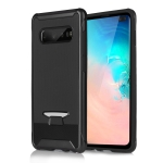 TPU + PC Granule Texture Protective Back Cover Case for Galaxy S10+ (Black)