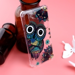 Pattern Oil Embossed TPU Case for Galaxy M10 (Owl Pattern)