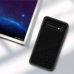 PINWUYO Full Coverage Waterproof Shockproof PC+TPU+PU Case for Galaxy S10+ (Black)