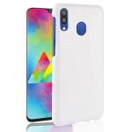 Shockproof Crocodile Texture PC + PU Case for Galaxy A20e (White)