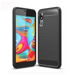 Brushed Texture Carbon Fiber TPU Case for Galaxy A2 Core (Black)