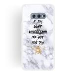 Bee Scrub Semi-transparent TPU Marble Phone Case for Galaxy S10e