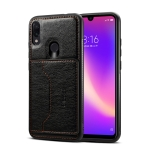 Dibase TPU + PC + PU Crazy Horse Texture Protective Case for Galaxy A30, with Holder & Card Slots (Black)