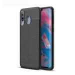 Litchi Texture TPU Shockproof Case for Galaxy M30 (Black)