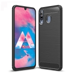Brushed Texture Carbon Fiber TPU Case for Galaxy M30 (Black)