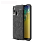 Litchi Texture TPU Shockproof Case for Galaxy A20e (Black)
